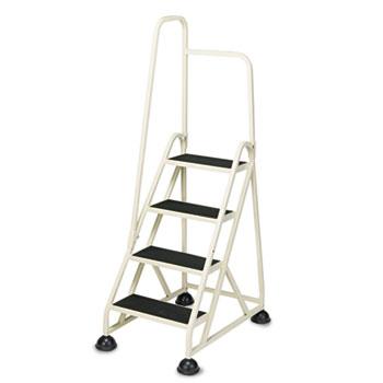 Cramer® Stop-Step® Four-Step Folding Aluminum Handrail Ladder, Beige