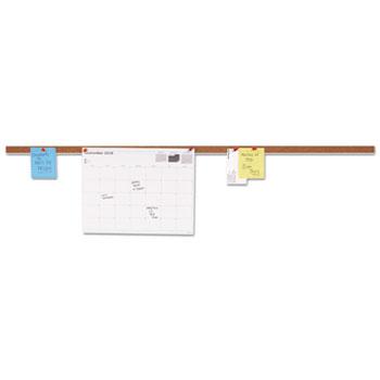Universal Cork Bulletin Bar, Brown, 36 x 1