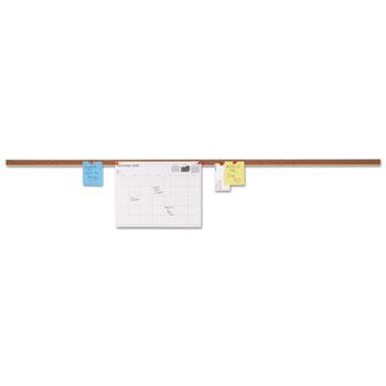 Universal® Cork Bulletin Bar, Brown, 48 x 1