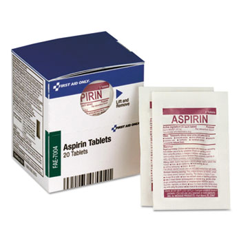 SmartCompliance Aspirin Refill, 2/Packet, 10 Packet/Box