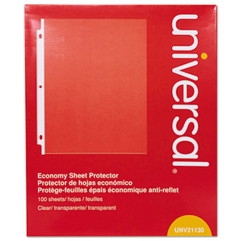 Universal Top-Load Poly Sheet Protectors, Economy, Letter, 100/Box