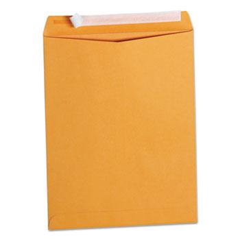 Peel Seal Strip Catalog Envelope, #13 1/2, Square Flap, Self-Adhesive Closure, 10 x 13, Natural Kraft, 100/Box