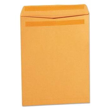 Universal Self-Stick Open-End Catalog Envelope, #12 1/2, Square Flap, Self-Adhesive Closure, 9.5 x 12.5, Brown Kraft, 250/Box