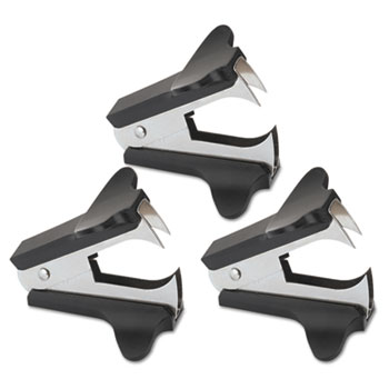 Jaw Style Staple Remover, Black, 3 per Pack