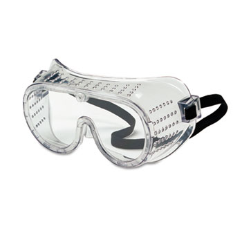 Crews® Safety Goggles, Over Glasses, Clear Lens, Direct Vent, Elastic Strap