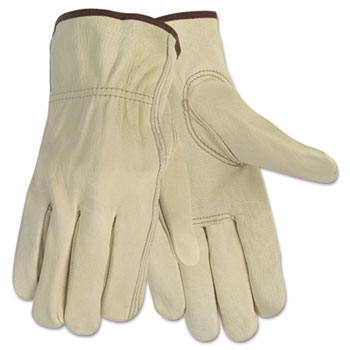 Memphis™ Economy Leather Driver Gloves, Medium, Beige, Pair