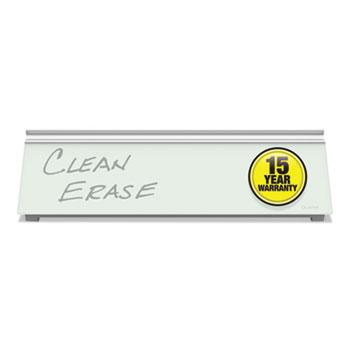 Quartet® Glass Dry Erase Desktop Computer Pad, 18 x 6, White