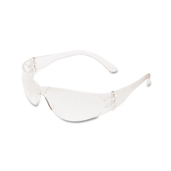 Crews® Checklite Scratch-Resistant Safety Glasses, Clear Lens