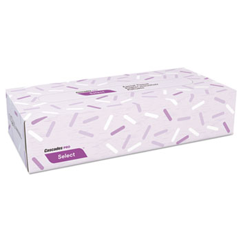 "Decor Facial Tissue, 2-Ply, White, 8"" x 7 3/8"", 100/Box, 30 Boxes/Carton"