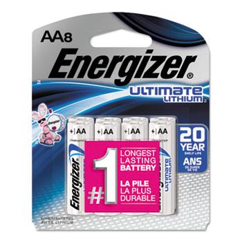 Energizer® Ultimate Lithium Batteries, AA, 8/PK