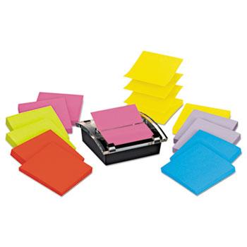 Post-it® Super Sticky Pop-up Dispenser Value Pack, 3 x 3, Black/Clear