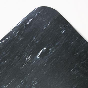 Crown Cushion-Step Mat, Rubber, 36 x 60, Marbleized Black