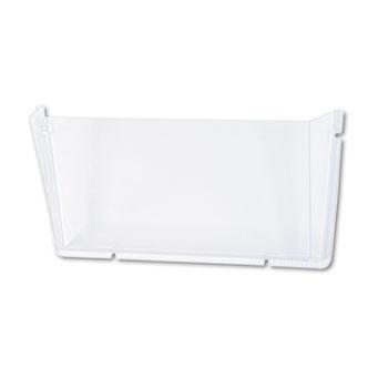 deflecto® Unbreakable Docupocket Single Pocket Wall File, Letter, Clear