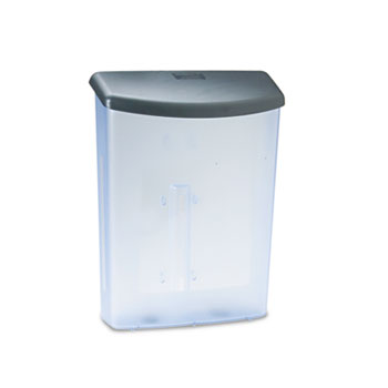 deflecto® Outdoor Literature Box, 10w x 4-1/2d x 13-1/8h, Clear/Black