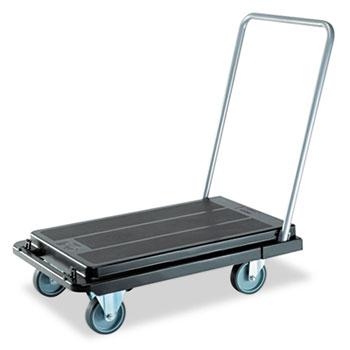 deflecto® Heavy-Duty Platform Cart, 500lb Capacity, 20 9/10w x 32 5/8d x 9h, Black