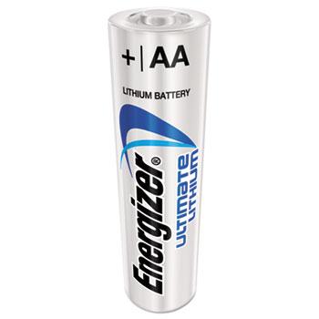 Energizer® Lithium Batteries, AA, 24 Batteries/Pack