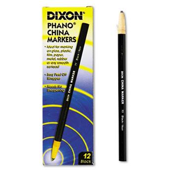 Dixon® China Marker, Black, Dozen