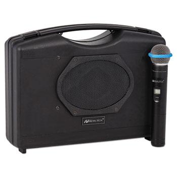 Bluetooth Audio Portable Buddy with Wireless Handheld Mic, 50W, Black
