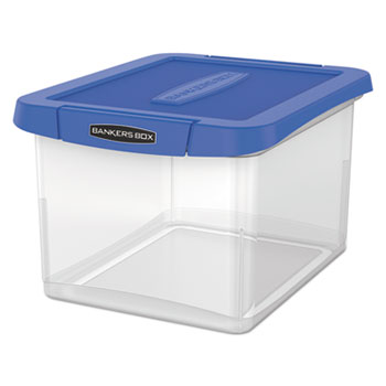 Bankers Box® Heavy Duty Plastic File Storage, 14 1/8 x 17 2/5 x 10 3/5, Clear
