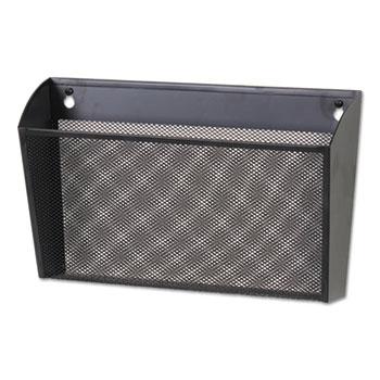 Universal® Metal Mesh Wall FileSingle Pocket, 14 1/8 x 3 3/8 x 8 1/8, Letter, Black