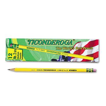 Woodcase Pencil, F #2.5, Yellow, Dozen