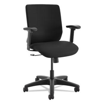 ComfortSelect B6 High Back Task Chair, Black, Fabric