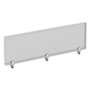 Alera® Polycarbonate Privacy Panel, 65w x 0.50d x 18h, Silver/Clear