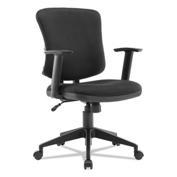 Alera® Everyday Task Office Chair, Supports up to 275 lbs., Black Seat/Black Back, Black Base