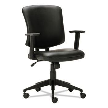 Everyday Task Office Chair, Supports up to 275 lbs., Black Seat/Black Back, Black Base