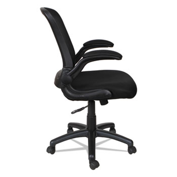 """Alera® Alera EB-E Series Swivel/Tilt Mid-Back Mesh Chair, Supports Up to 275 lb, 18.11"""" to 22.04"""" Seat Height, Black"""