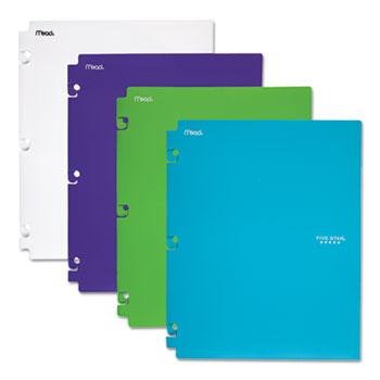 Five Star® Snap-In Plastic Folder, 20 Sheets, 8 1/2 x 11, Assorted, Snap Closure, 2/Set