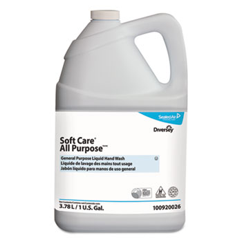 Diversey™ Soft Care All Purpose Liquid, Gentle Floral, 1 gal Bottle, 4/Carton