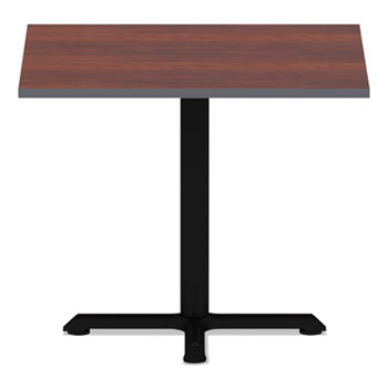 Alera® Reversible Laminate Table Top, Square, 35 3/8w x 35 3/8d, Medium Cherry/Mahogany