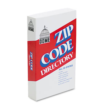 Dome® Zip Code Directory, Paperback, 750 Pages