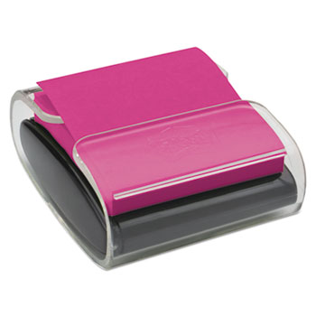 Pop-Up Notes Wrap Dispenser, 3 x 3, Black/Clear