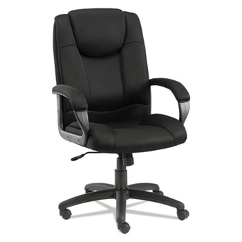 """Alera® Alera Logan Series Mesh High-Back Swivel/Tilt Chair, Supports Up to 275 lb, 18.11"""" to 21.65"""" Seat Height, Black"""