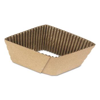 Boardwalk® Cup Sleeves, Fits 10 oz to 20 oz Hot Cups, Kraft, 1,200/Carton