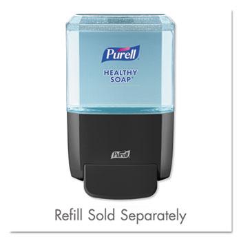 "PURELL® ES4 Push-Style Soap Dispenser, 1200mL, 4.88"" x 8.19"" x 11.38"", Graphite"