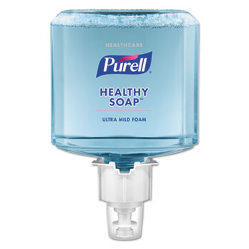 PURELL® Healthcare HEALTHY SOAP® Gentle and Free Foam Refill, 1200 mL, For ES6 Dispensers, 2/CT