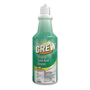 Crew® Clinging Toilet Bowl Cleaner, Fresh Scent, 32 oz Squeeze Bottle, 6/Carton