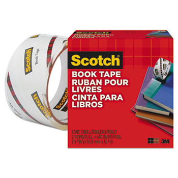 "Scotch™ Book Repair Tape, 2"" x 15yds, 3"" Core, Clear"