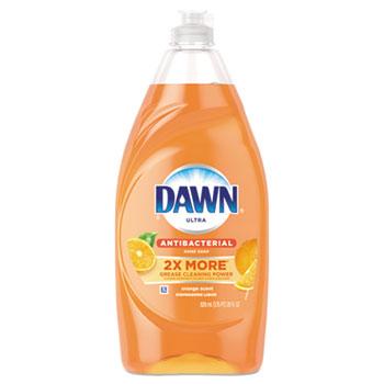 Ultra Antibacterial Dishwashing Liquid, Orange Scent, 28 oz Bottle
