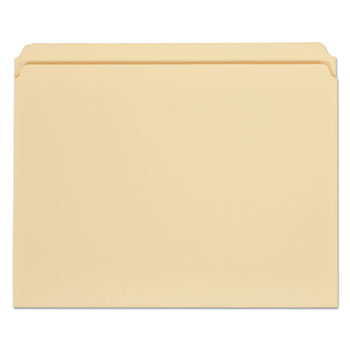 Top Tab Manila File Folders, Straight Tab, Letter Size, 11 pt. Manila, 100/Box