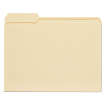 Top Tab Manila File Folders, 1/3-Cut Tabs, Assorted Positions, Letter Size, 11 pt. Manila, 100/Box