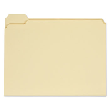 Top Tab Manila File Folders, 1/5-Cut Tabs, Assorted Positions, Letter Size, 11 pt. Manila, 100/Box