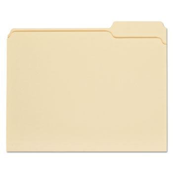 Top Tab Manila File Folders, 1/3-Cut Tabs, Right Position, Letter Size, 11 pt. Manila, 100/Box