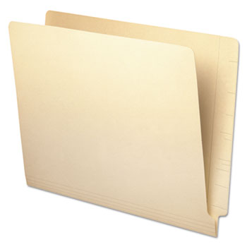 Universal Deluxe Reinforced End Tab Folders, Straight Tab, Letter Size, Manila, 100/Box