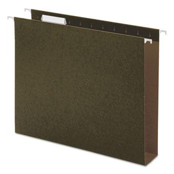 Universal Box Bottom Hanging File Folders, Letter Size, 1/5-Cut Tab, Standard Green, 25/Box