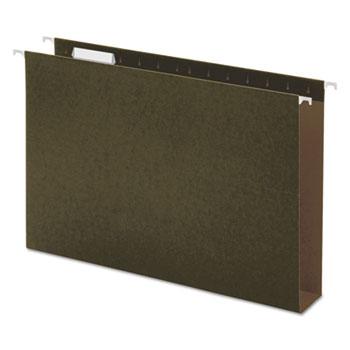 Universal Box Bottom Hanging File Folders, Legal Size, 1/5-Cut Tab, Standard Green, 25/Box