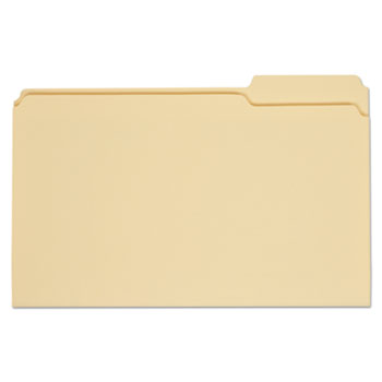 Top Tab Manila File Folders, 1/3-Cut Tabs, Right Position, Legal Size, 11 pt. Manila, 100/Box